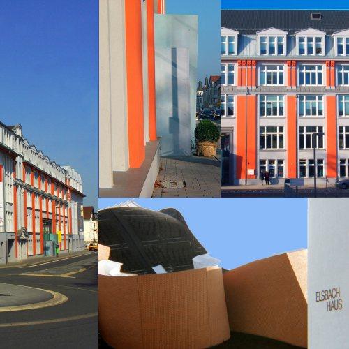 Maler Bielefeld, Farbkonzepte für die Fassaden im Elsbachareal in Herford, gestaltet von Stenner und Keitel. Es liegt gegenüber vom MARTa von Frank Ghery.
