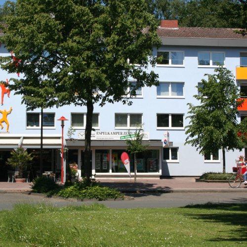 Maler Bielefeld, Farbkonzepte für Fassaden in Espelkamp, konzipiert von Stenner und Keitel