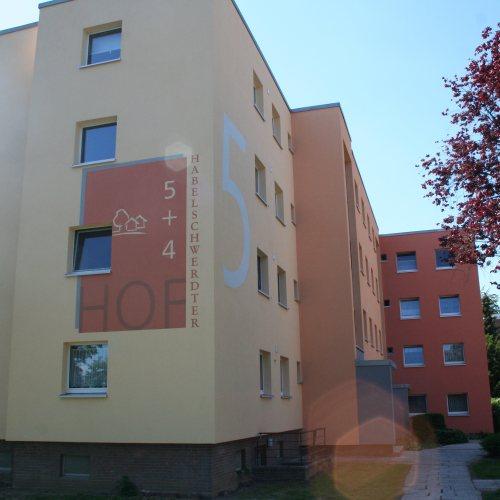 Maler Bielefeld, Farbkonzepte für die Fassaden verschiedener Gebäude in Espelkamp, Stenner und Keitel