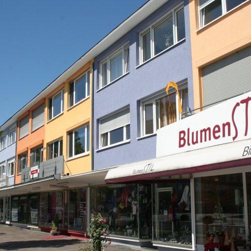 Maler Bielefeld, Farbkonzepte für Fassaden: Hauptstraße Espelkamp, entworfen von Stenner und Keitel