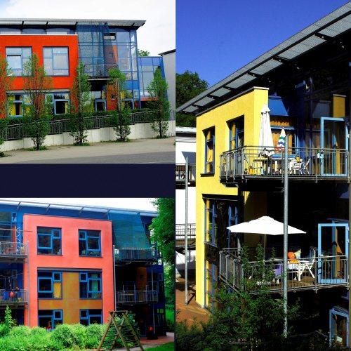 Maler Bielefeld, Farbkonzepte für Fassaden: Mamre-Patmos-Schule in Bielefeld, entworfen von Stenner und Keitel