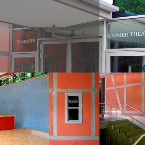 Maler Bielefeld, Farbkonzepte für Fassaden: Fassade des Sommertheaters in Detmold, entworfen von Stenner und Keitel