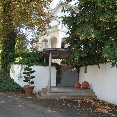 Maler Bielefeld, Fassaden-Gestaltung einer Villa auf dem Stiftberg in Herford durch Stenner und Keitel