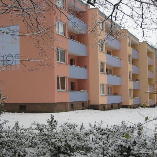 Maler Bielefeld, Fassaden-Farbgestaltung von Wohngebäuden in Espelkamp durch Stenner und Keitel