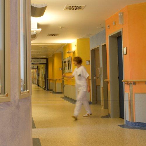 Maler Bielefeld, Innenraum: Flurbereich / Krankenhaus