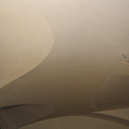 Maler Bielefeld, Raumakustik: Akustikdecke in einem Kreujoch-Gewölbe in Bielefeld