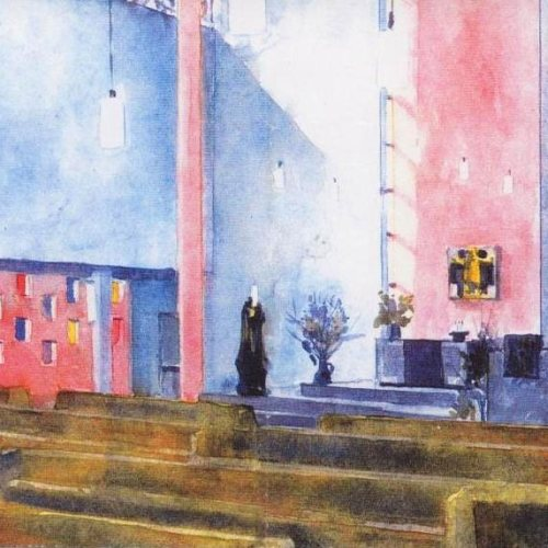 Maler Bielefeld, Raumgestaltung: Farbentwurf für die Kreuzkirche in Herford von Stenner und Keitel