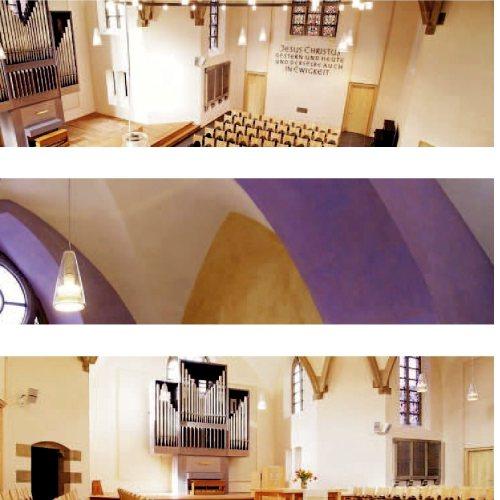 Maler Bielefeld, Raumgestaltung: Gestaltung des Kirchenraumes in der Petrikirche in Herford durch Stenner und Keitel