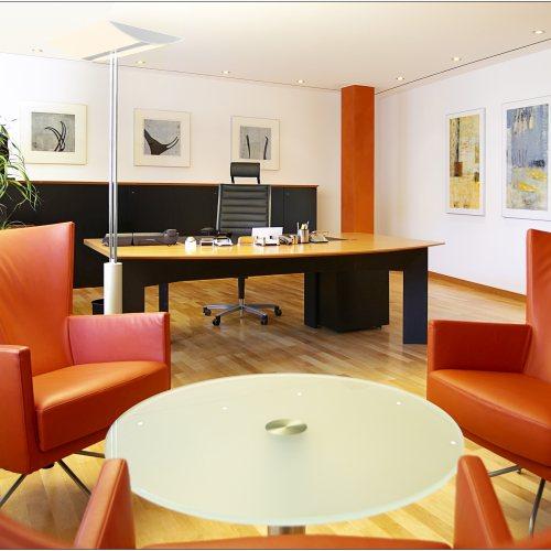 Maler Bielefeld, Raumgestaltung: Gestaltung eines Büroraumes in der Sparkasse Bad Pyrmont durch Stenner und Keitel