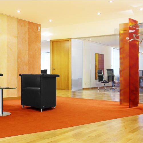 Maler Bielefeld, Raumgestaltung: Gestaltung des Wartebereiches in der Vorstandsebene in der Sparkasse Bad Pyrmont durch Stenner und Keitel