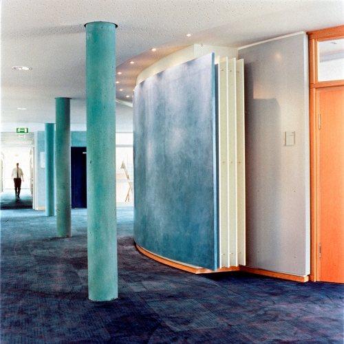 Maler Bielefeld, Raumgestaltung: Farbkonzept für die Sparkasse Herford von Stenner und Keitel